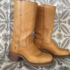 Frye mid calf campus boot. Size 7